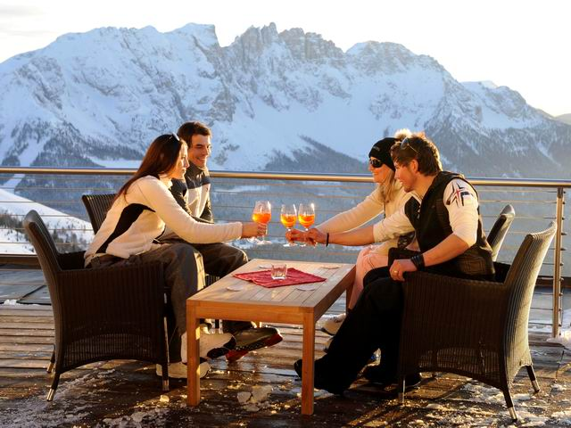 BE THE FIRST E APERITIVO SUNSET SULLE DOLOMITI